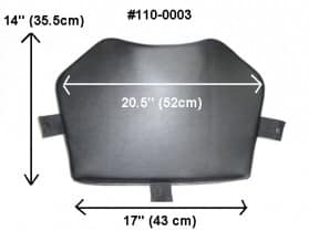Seat cushion for ATV rear trunks & seats