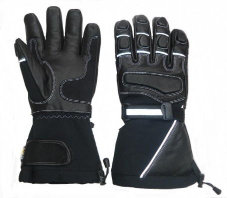 Leather gloves for snowmobile