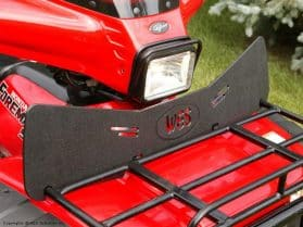 Wind deflector for ATV
