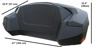 Dimensions of ATV storage box Epedition without backrest