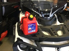 Gas can kit for Outlander ATV